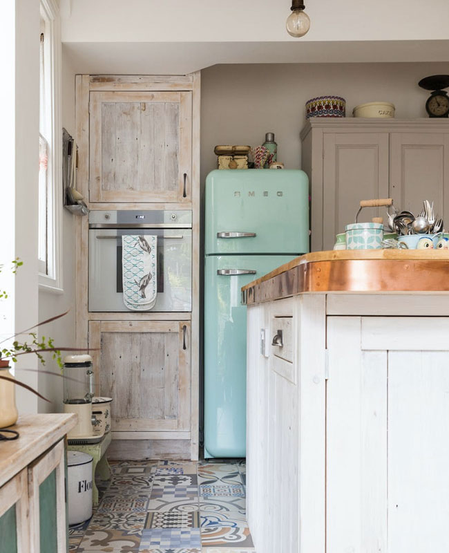 deco cuisine campagne bleu pastel