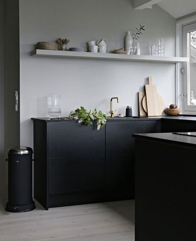deco cuisine moderne noir