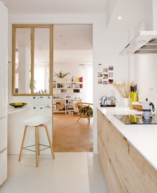 deco cuisine scandinave blanc bois