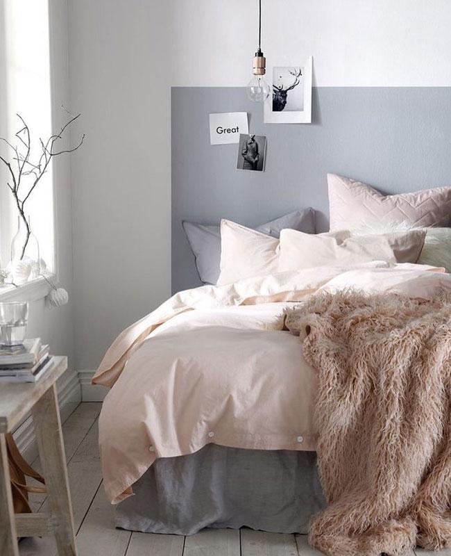deco gris rose chambre