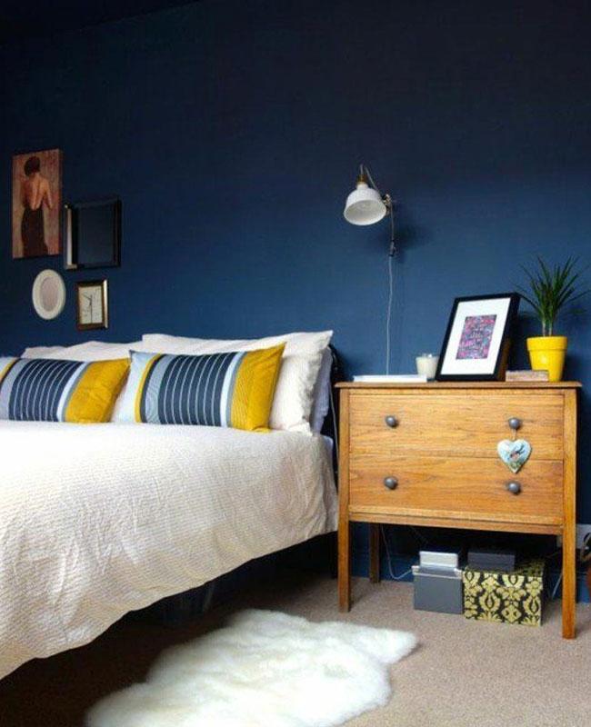 deco jaune bleu chambre