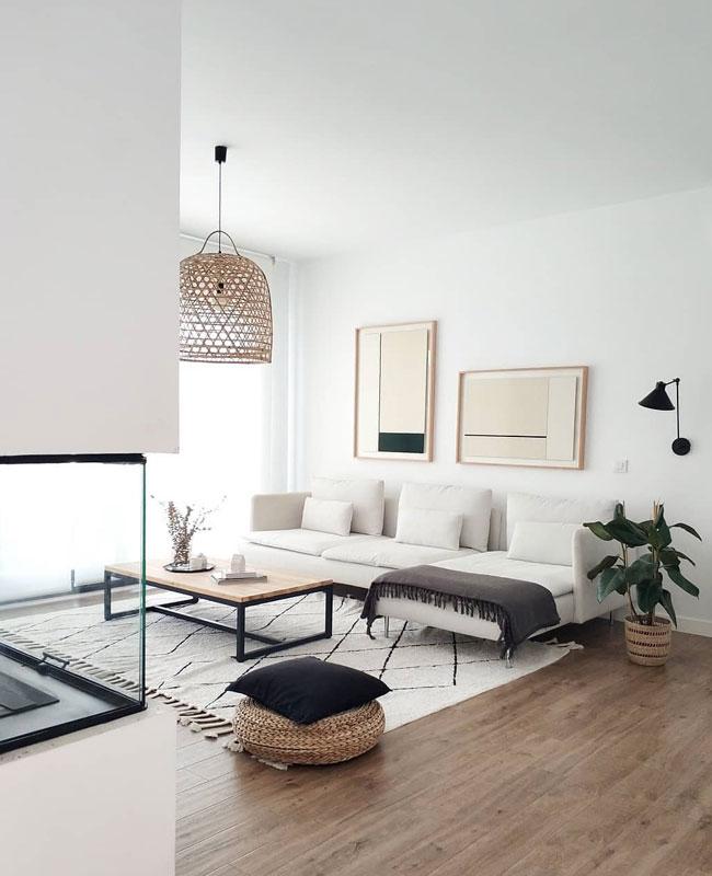 deco moderne blanc salon