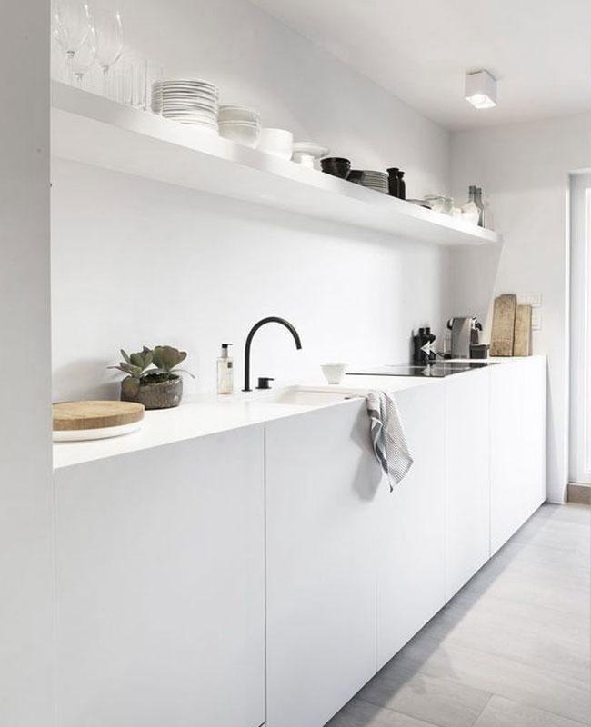 deco moderne blanc cuisine