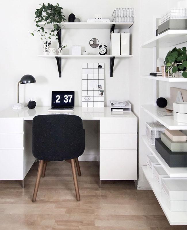 deco moderne blanc bureau