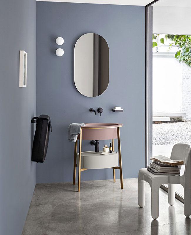 deco moderne bleu salle de bain