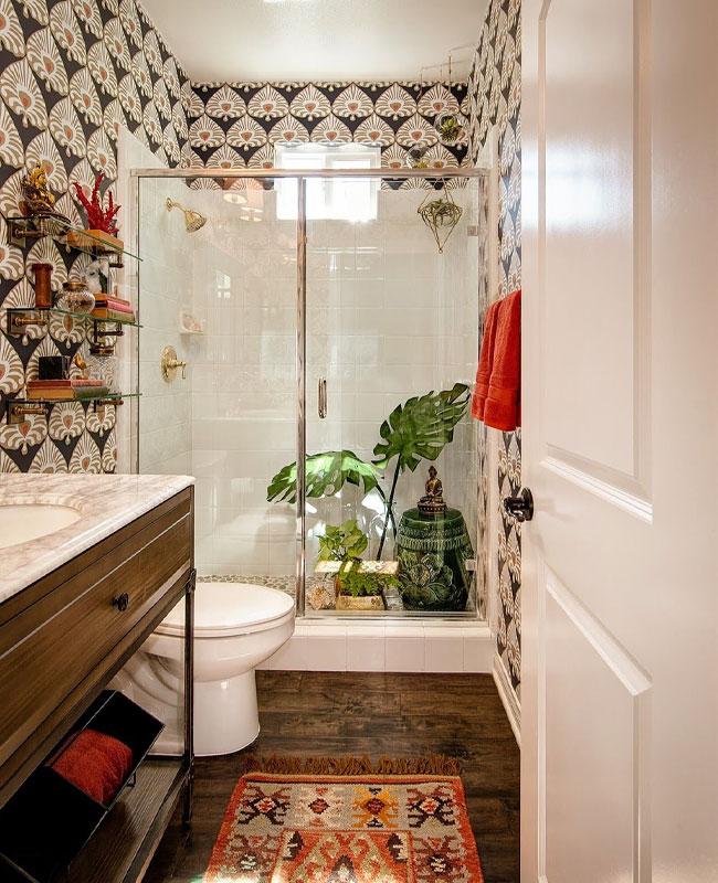 deco salle de bain boheme motifs
