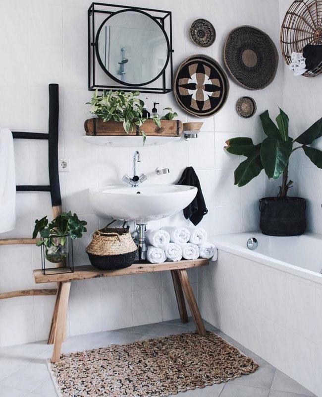 deco salle de bain cosy blanc