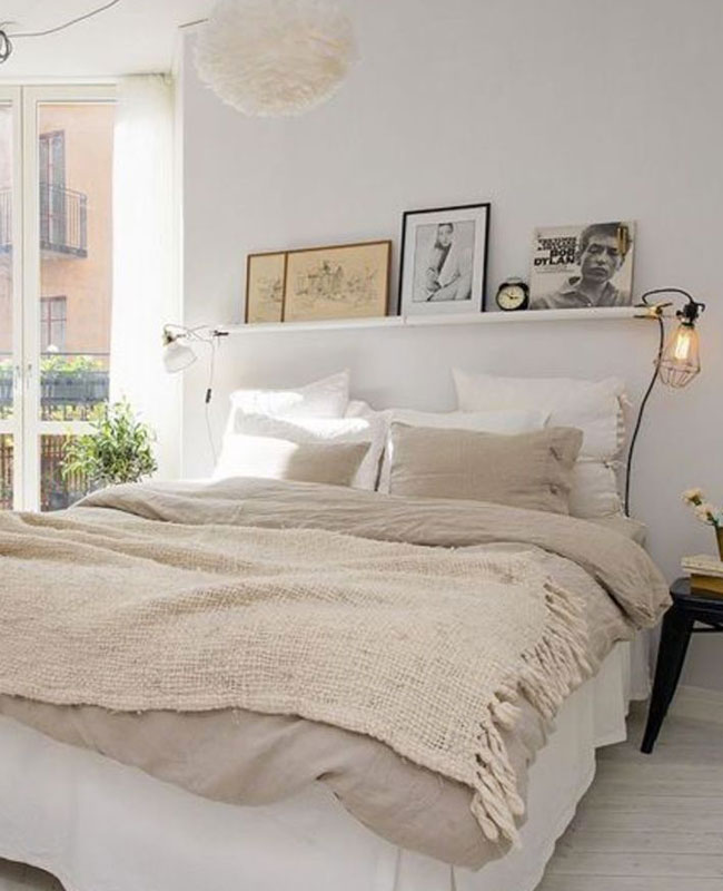 deco scandinave cosy chambre beige