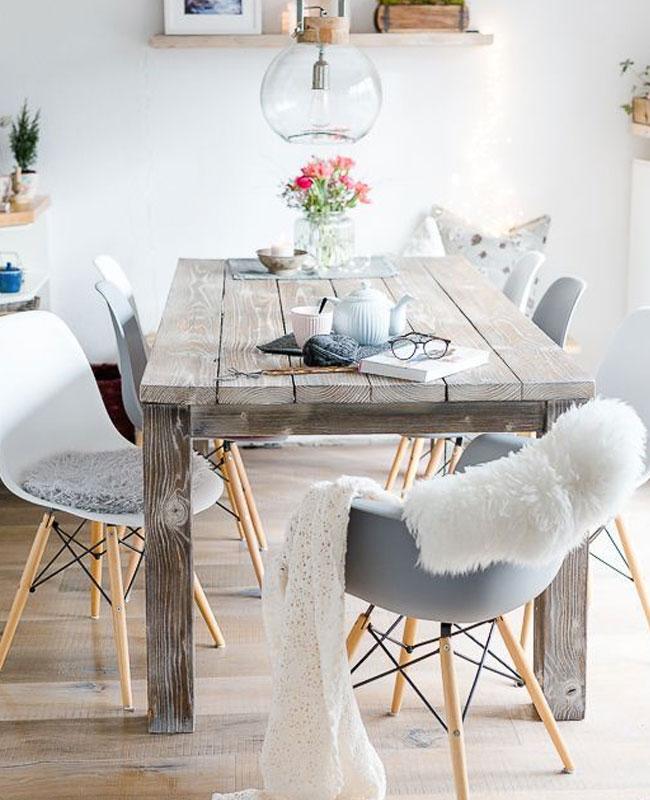 deco scandinave cosy salle a manger bois
