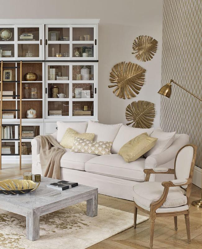 Une Deco En Beige Blanc Et Dore My Blog Deco