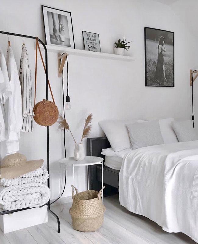 deco boheme scandinave chambre blanc