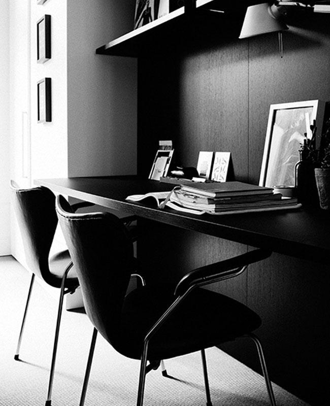 deco bureau noir moderne
