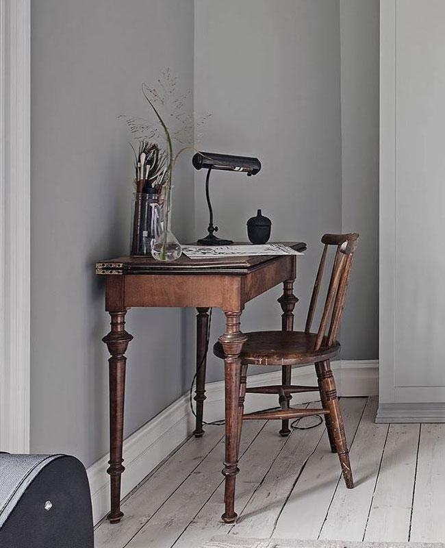 deco bureau scandinave bois vintage