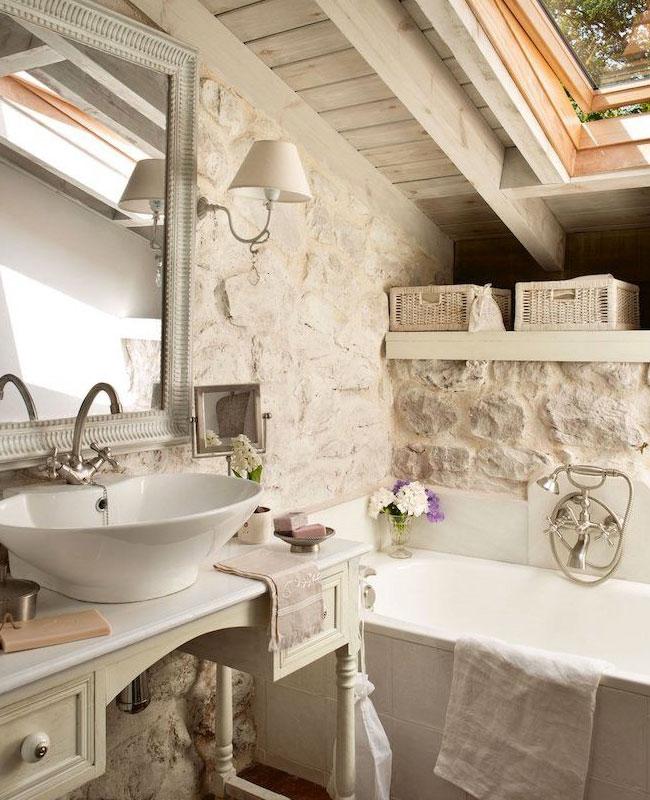 deco campagne beige salle de bain pierre