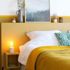 deco chambre jaune moutarde