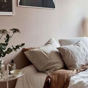 deco chambre rose beige