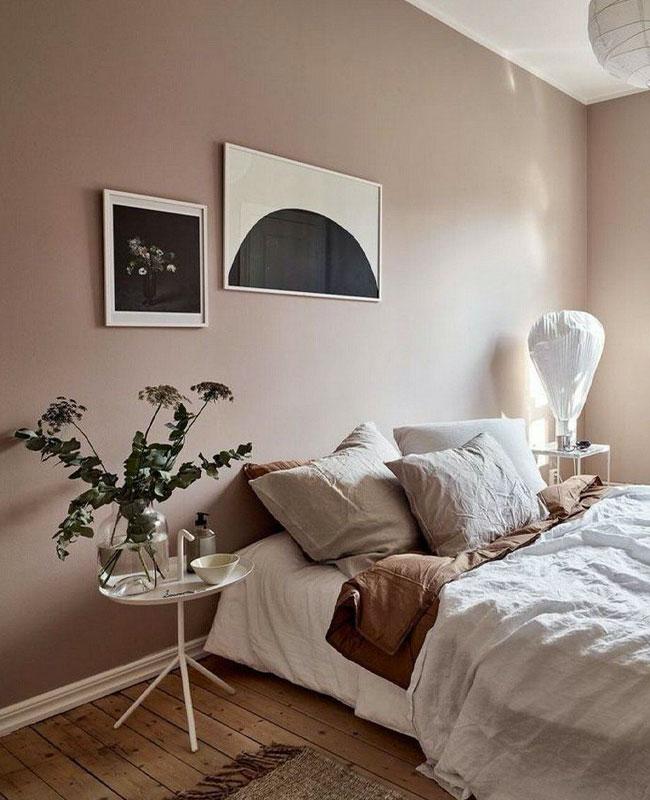 deco chambre rose beige scandinave