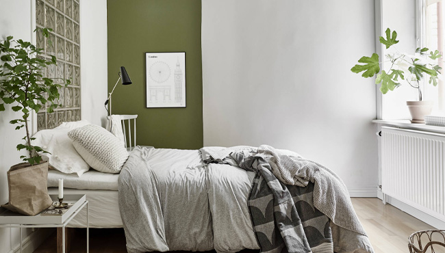 deco chambre beige vert kaki