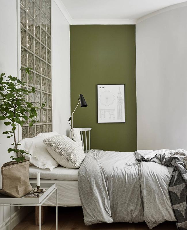 20+ Chambre Mur Vert Déco Moderne Pictures