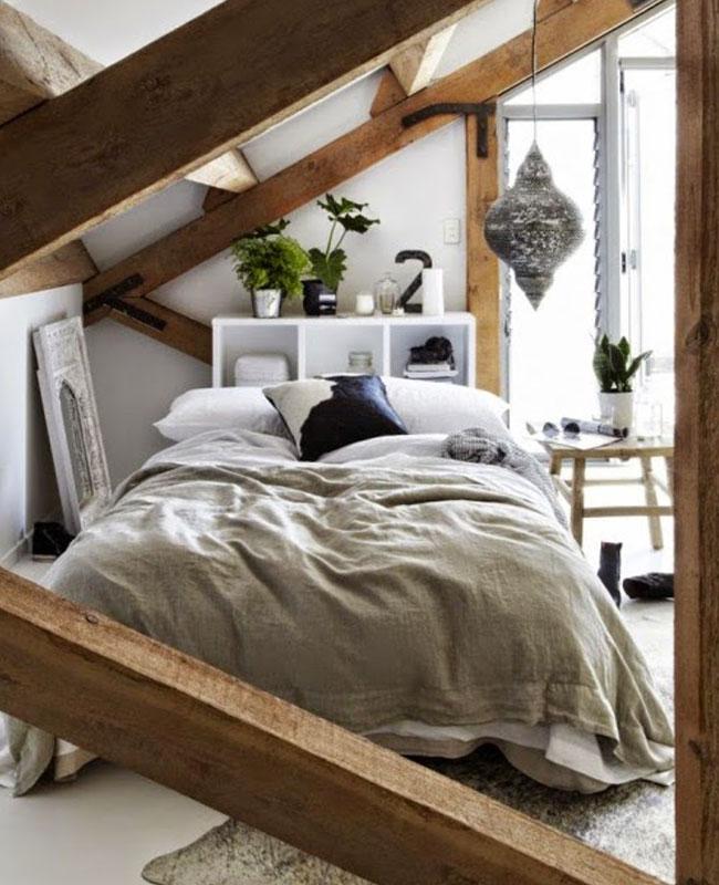 deco cosy nature chambre bois