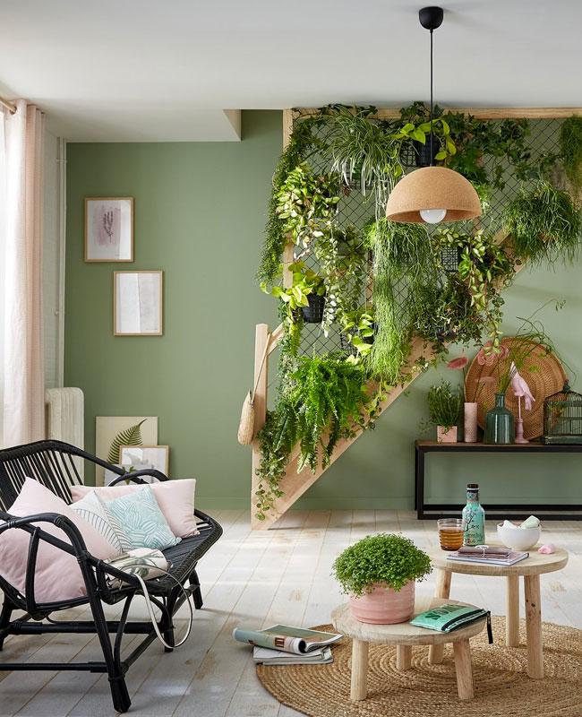deco cosy nature salon plante