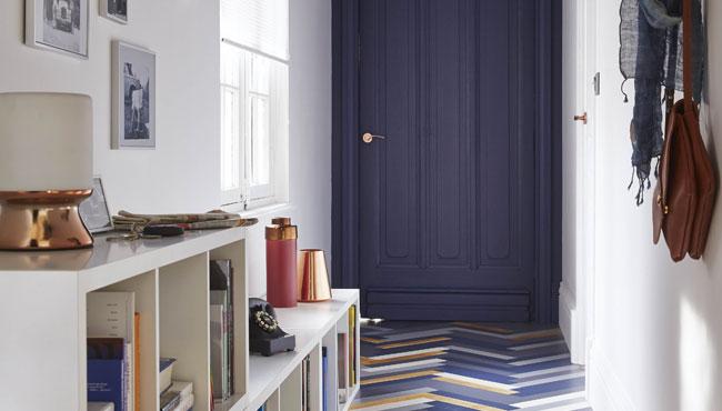 deco bleu couloir