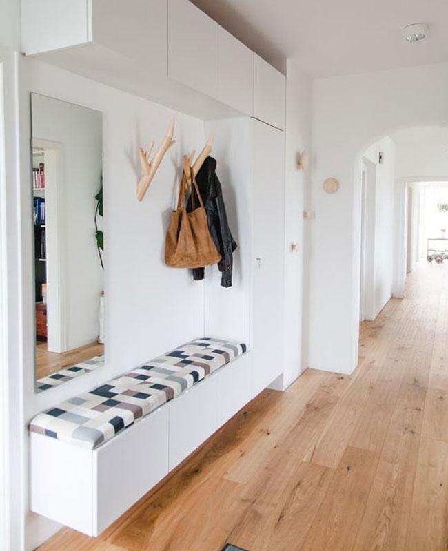 deco couloir moderne blanc meuble