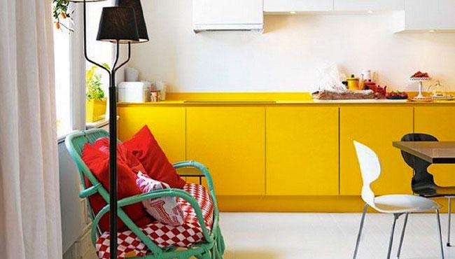 deco cuisine jaune