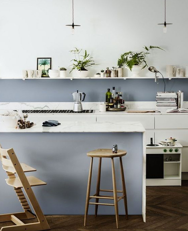 deco cuisine moderne gris peinture