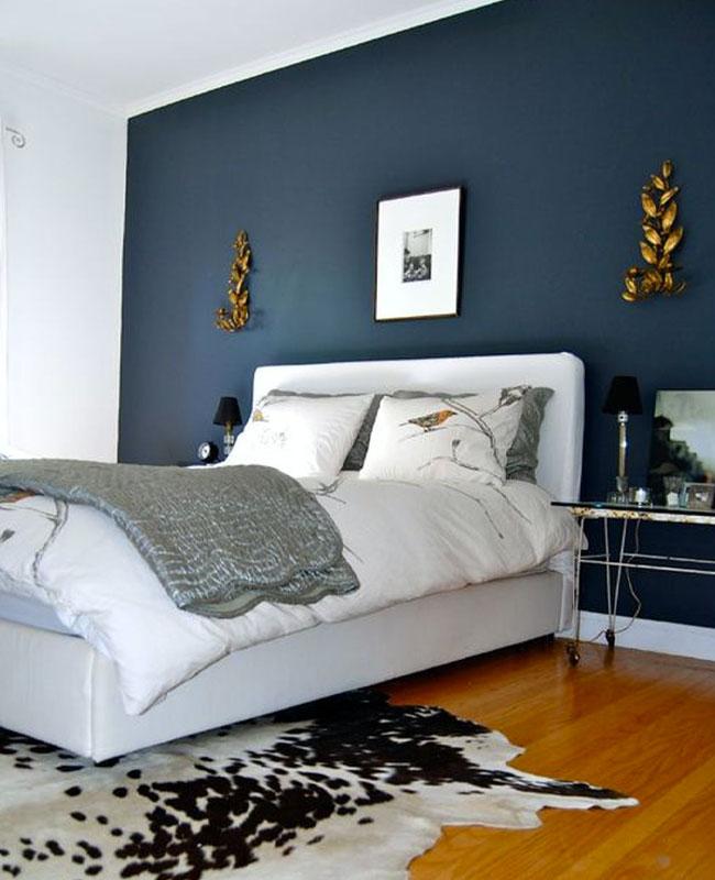 deco moderne bleu canard chambre
