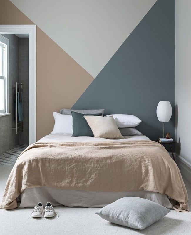 deco murale chambre peinture géométrique