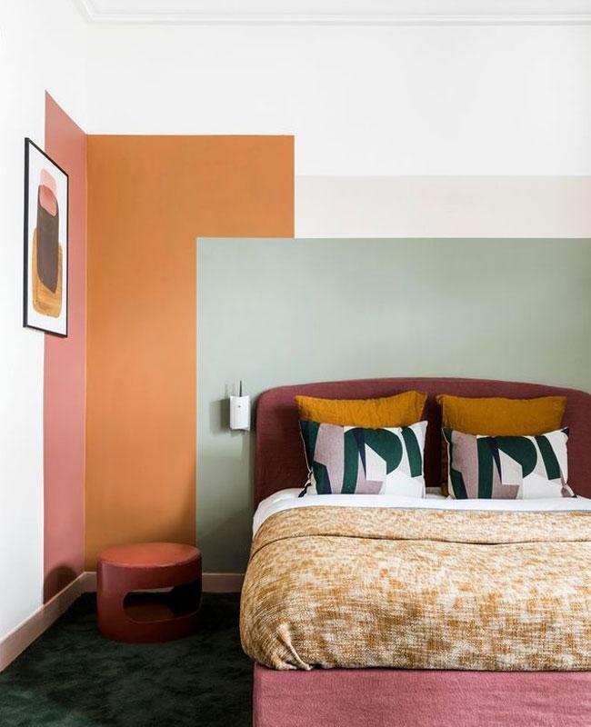 deco murale chambre peintre zone couleur