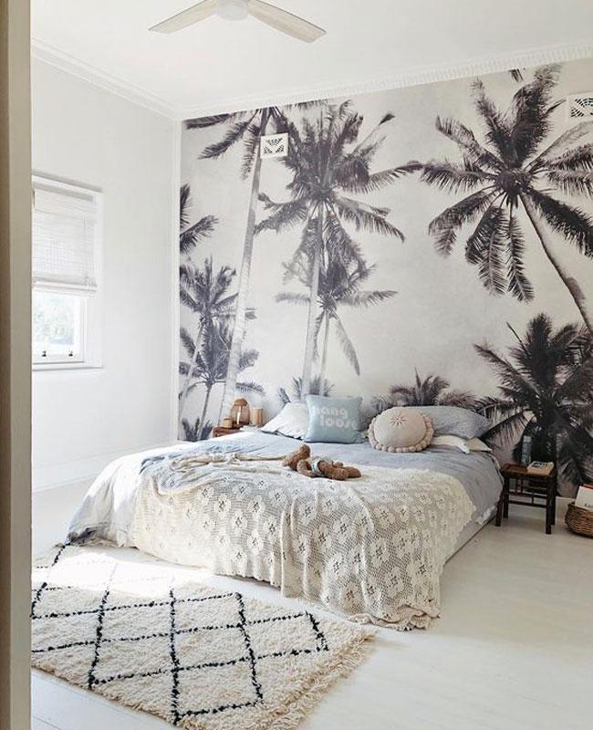 deco papier peint chambre panoramique noir blanc