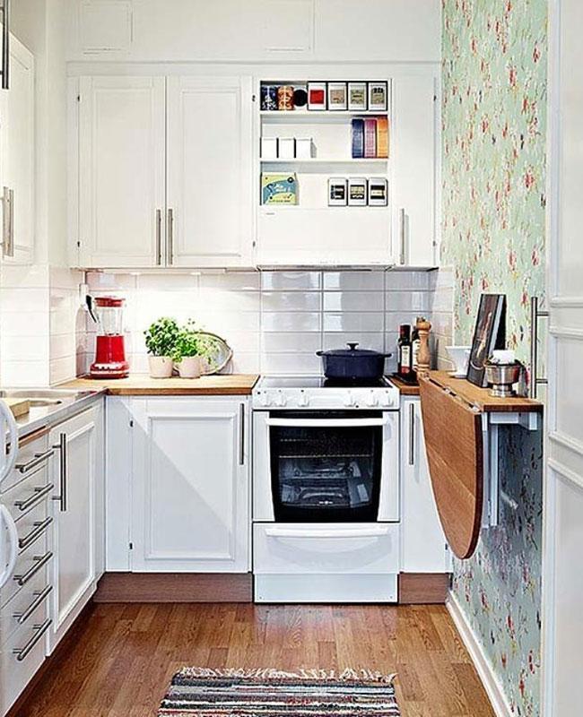 deco petite cuisine table murale pliante