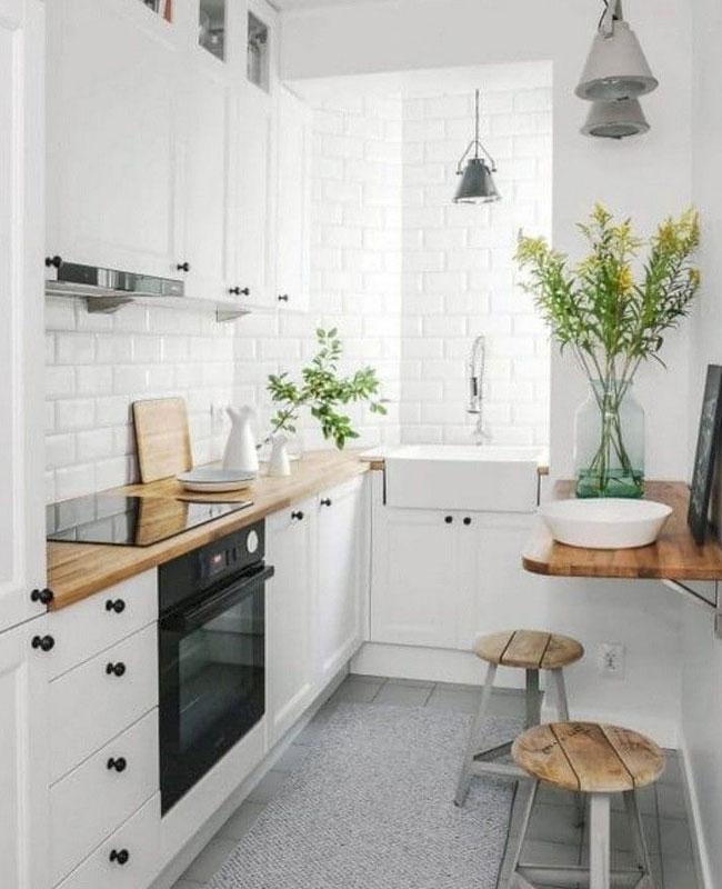 deco petite cuisine table murale