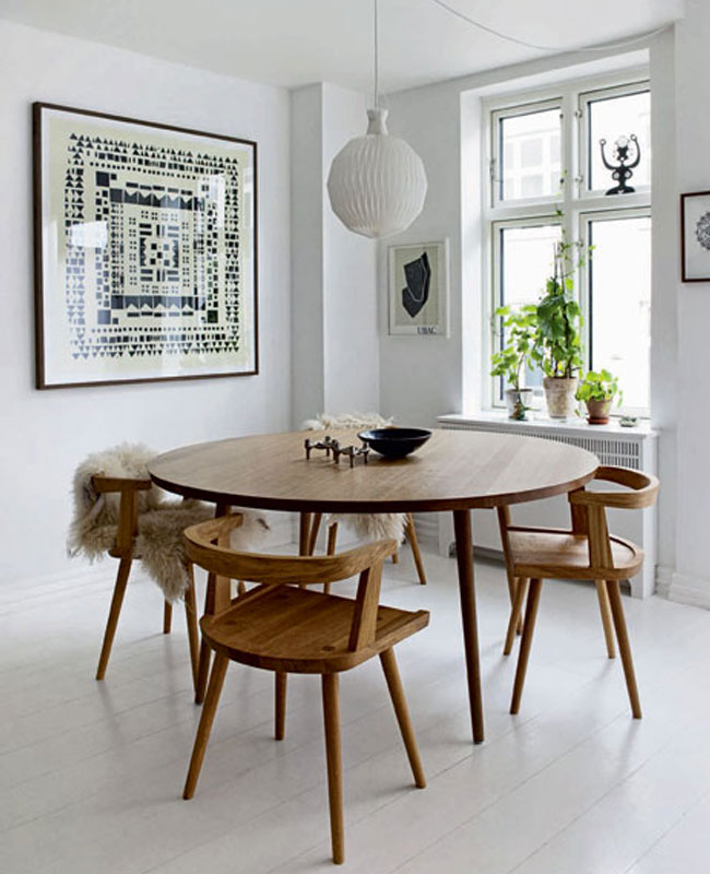 deco petite salle a manger scandinave table ronde