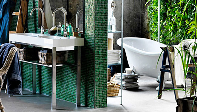 deco salle de bain plantes