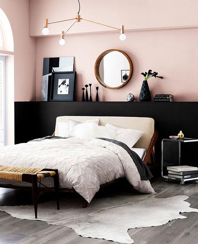deco rose noir chambre