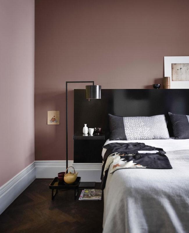 deco rose noir chambre moderne
