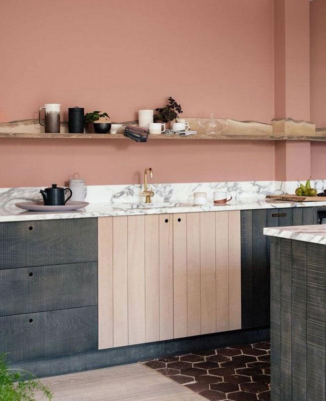 deco rose noir cuisine moderne