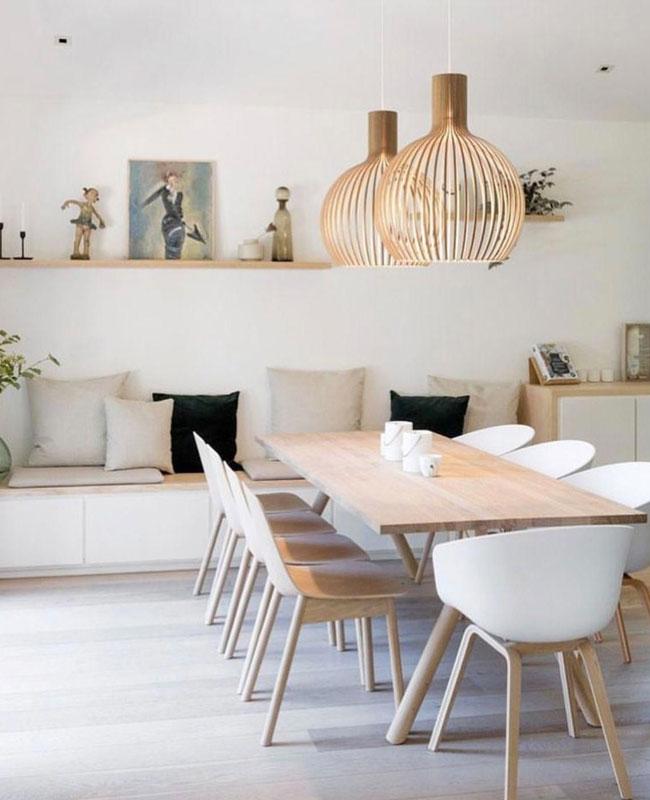 deco salle a manger nature bois moderne