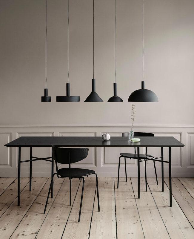 deco salle a manger noir meuble moderne