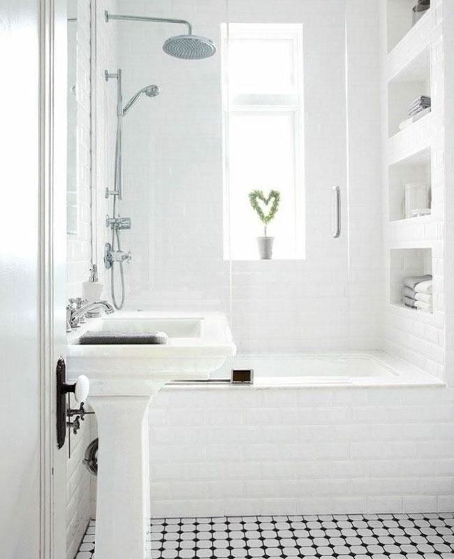deco salle de bain blanc carrelage metro