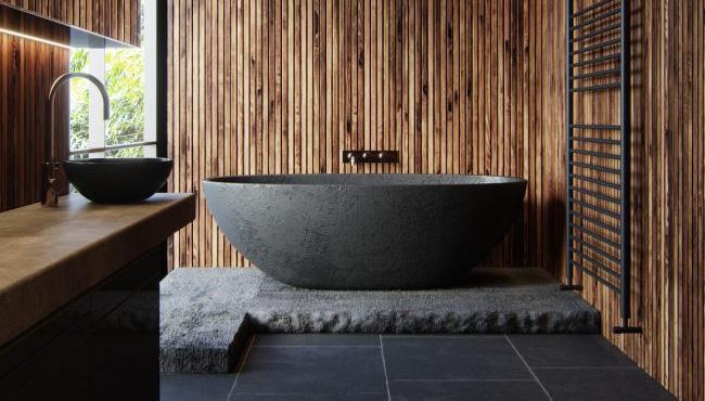 deco salle de bain noir