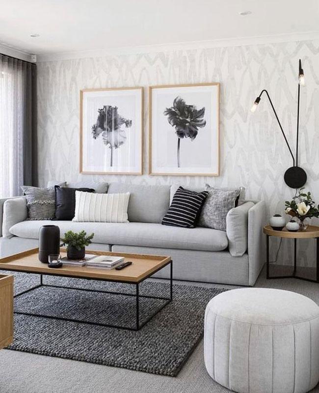 deco salon gris canape moderne
