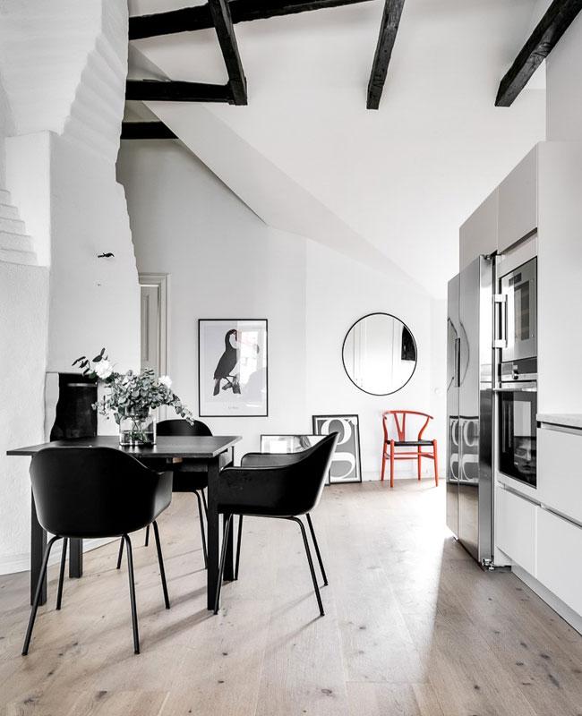 deco scandinave moderne loft noir blanc