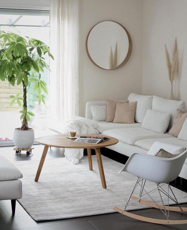 deco scandinave moderne salon blanc bois