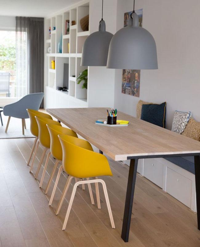 deco scandinave moderne sejour gris jaune