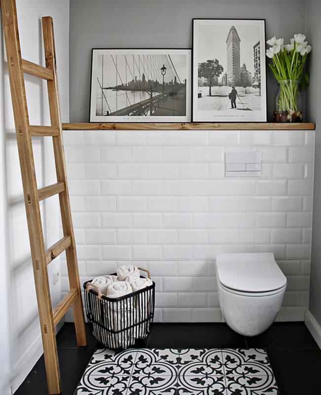 deco toilettes wc gris peinture mur