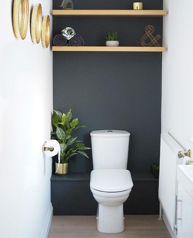 deco toilettes wc gris peinture mur anthracite